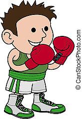 bokser, mannelijke , illustratie