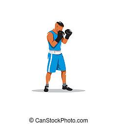 bokser, vector, meldingsbord