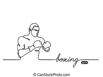 bokser, vector, schets