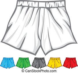 bokser, verzameling, kniebroek