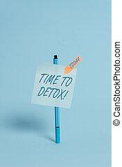 bolígrafo, foto, pegajoso, su, consumidor, cuándo, escritura, nota, fondo., detox., pacífico, usted, fresco, cuerpo, empresa / negocio, actuación, parada, bandera, toxins, coloreado, purificar, droga, flecha, tiempo, showcasing, o