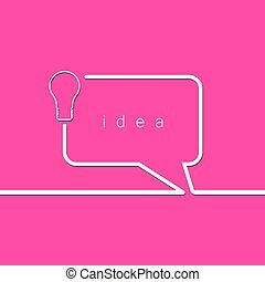 bol, concept, idee, licht