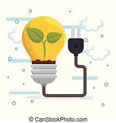 bol, energie, ecologie, iconen