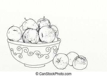 bol fruit, pommes