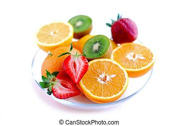 bol, fruits