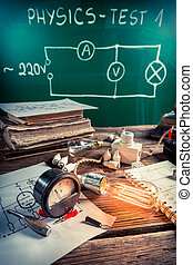 bol, fysica, ervaring, laboratorium