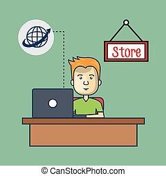 bol, globaal net, man, avatar