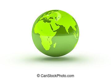 bol, globe, groene