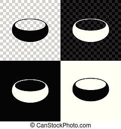 bol, isolé, illustration, arrière-plan., vecteur, noir, blanc, transparent, icône