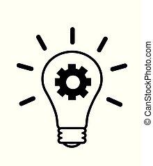 bol, licht, idee, creatief