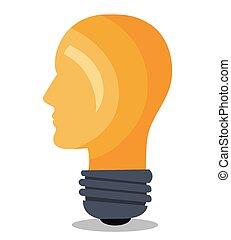 bol hoofd idee licht hoofd denken macht hersenen eps vectors zoek naar clipart. Black Bedroom Furniture Sets. Home Design Ideas