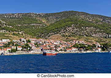 Bol town on Brac island, Croatia