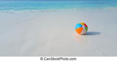 bola azul, ilha, ensolarado, oceânicos, tropicais, maldives, aqua, mar, paraisos , praia branca, arenoso, céu