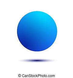 bola azul, isolado