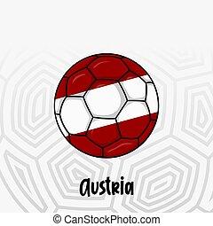 bola, bandeira, áustria