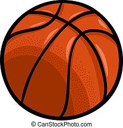 bola, basquetebol, arte, caricatura, clip