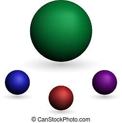 bola branca, isolado, fundo