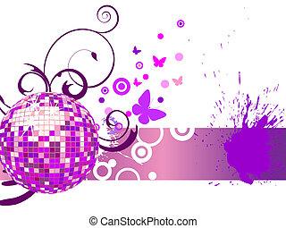 bola, coloridos, espelho