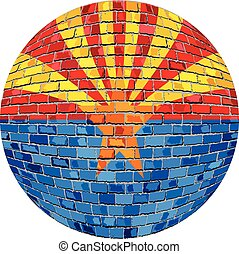 bola, com, bandeira arizona