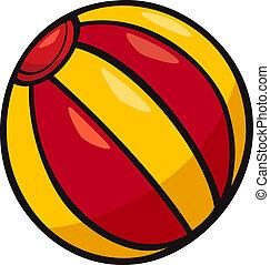 bola, corte arte, caricatura, ilustração