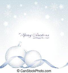 bola cristalina, fundo, cintilante, natal