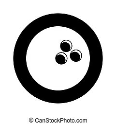 bola de bowling, aislado, icono