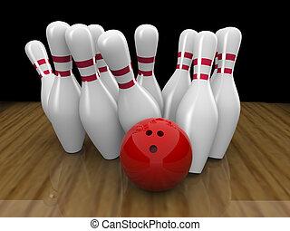 bola de bowling, huelga
