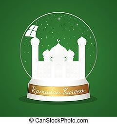 bola de cristal, mezquita