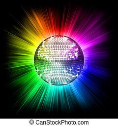 bola, discoteca, coloridos