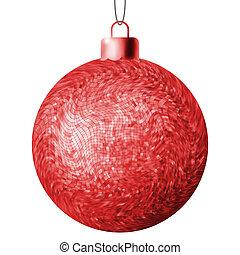 bola, eps, experiência., 8, christmas branco