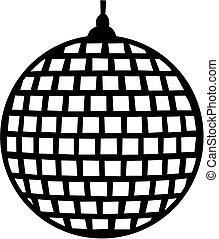 bola, espelho, ícone