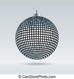 bola, espelho, discoteca