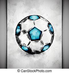bola futebol, aquarela
