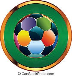 bola futebol, coloridos