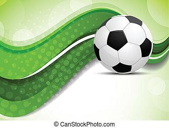 bola futebol, experiência verde