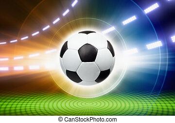 bola futebol, holofotes