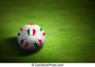 bola futebol, itália, sobre, -, bandeira, campeonato, euro,...