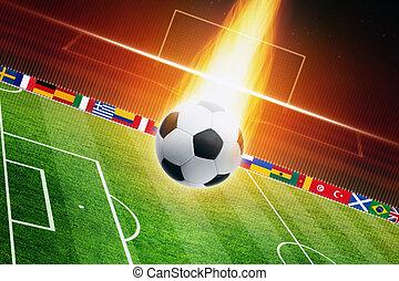 bola futebol, queimadura
