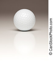 bola, golfe, único, gradated, fundo, branca