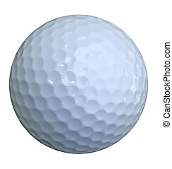 bola golfe, branco