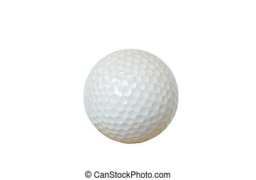 bola golfe, branco, fundo