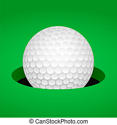 bola, golfe, copo