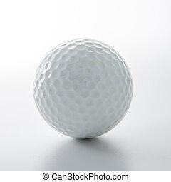 bola golfe, isolado, branco