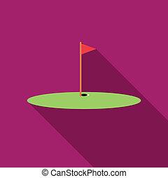 bola golfe, ligado, lábio, de, copo