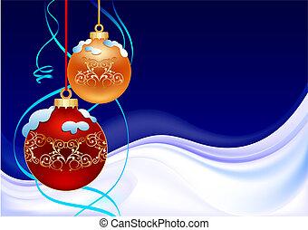 bola, inverno, natal