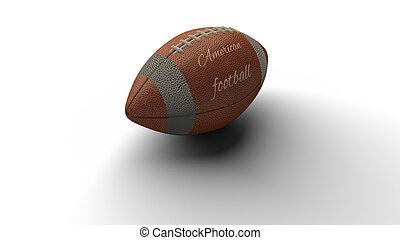 bola, lançando, texto, futebol, fazendo, americano, sombra, 3d