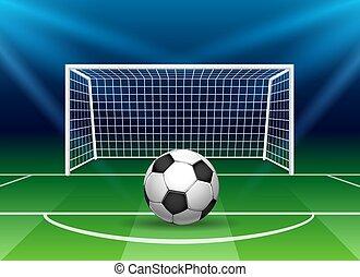 bola, meta, futebol americano futebol