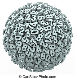 bola, número, esfera, aprendizagem, contabilidade, contagem,...