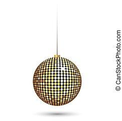bola natal, isolado, branca