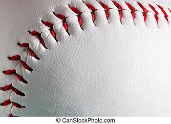 bola, novo, cópia, macro, space., basebol